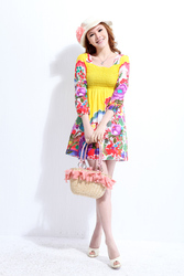 blooming-flower-printing-charming-Korean-fahsion-dress